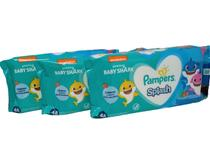 Kit 3 pacote lenço umedecido Pampers Splash suave resistente -