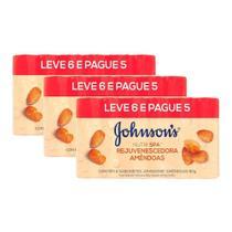 Kit 3 Pacotes Sabonete Barra Johnson's Amêndoas 80g Leve 6 Pague 5 -