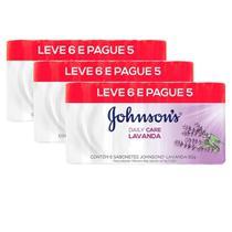 Kit 3 Pacotes Sabonete Barra Johnson's Lavanda 80g Leve 6 Pague 5 -