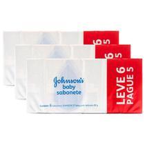 Kit 3 Pacotes Sabonete em Barra Johnson's Baby 80g Leve 6 Pague 5 -