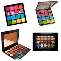 Kit 3 Paletas De Sombra Sp Colors Ultimate E Best Pro 35 Cores -