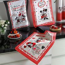 Kit 3 Panos de Pratos Mickey e Minnie Love - Disney -