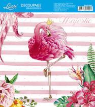 Kit 3 Papel Decoupage Adesiva 20X20 Flamingo Coroa DA20-098 - Litoarte -