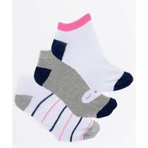 Kit 3 pares de meias feminina action -
