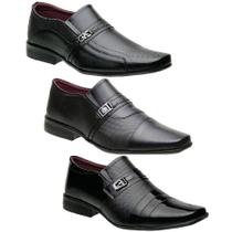 Kit 3 Pares Sapatos Masculinos Torani -