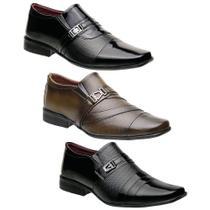 Kit 3 Pares Sapatos Sociais Torani Masculinos Falcone -