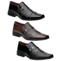 Kit 3 Pares Sapatos Sociais Torani -