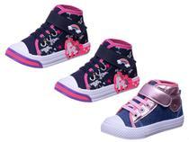 Kit 3 Pares Tenis Infantil Bebê Feminino Super Leves - AS300 - Algarte Shoes