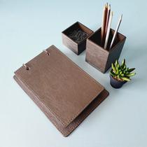 Kit 3 pçs argola mousepad caneta e clips prata velho+ castor - Apparatos