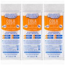 Kit 3 Pct Bastão 11,2mm Cola Quente grossa brw 1kg -