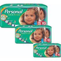 Kit 3 Pct Fralda Descartavel Personal Jumbo Mega XG Com 42 -