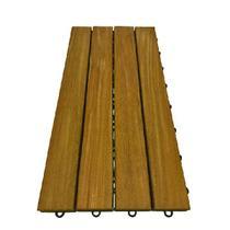Kit 3 Peças (0,5m²) Deck Modular 4 Réguas 30x60 - Scrock Pisos