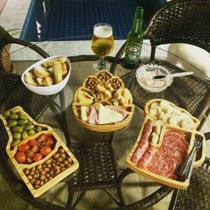 Kit 3 Petisqueiras, tábua de frios, mesa posta -  IXNEQUE -