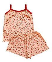 Kit 3 Pijama Curto Menina Baby Doll Infantil Roupa De Dormir - Regional