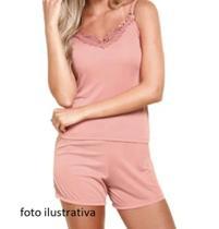 kit 3 pijamas shorts e blusa alça liganete feminino - Nacional