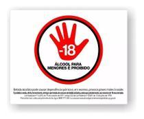 Kit 3 Placas Proibido Bebidas A Menores De 18 Anos -