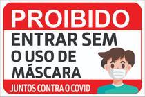 Kit 3 Placas  Uso da Máscara - Sinalização De Prevenção - Ateliê Da Decoração