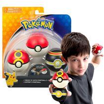 Kit 3 Pokebola Pokemon 6cm Pack com 3 - Tomy -