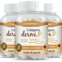 Kit 3 Potes Colágeno Verisol Dermup - 90 Cápsulas - Maxinutri -
