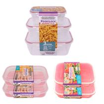 Kit 3 Potes Plásticos Herméticos + 2 Marmita + 2 Porta Frios - Lp House