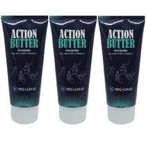 Kit 3 Protetor de Pele Ciclismo Antiatrito Action Butter Tahoma -