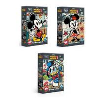 Kit 3 Quebra-Cabeças Nano 500 Pçs cada Turma do Mickey - Toyster
