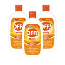 Kit 3 Repelente de Insetos Off! Loção Family 60ml -