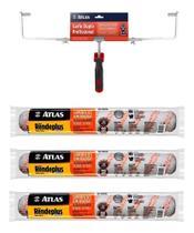 Kit 3 Rolo Rendeplus 46cm Big + Garfo Duplo Suporte Atlas -