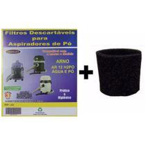 Kit 3 Sacos Descartáveis Aspirador De Pó Arno Ar12 / H2PO Água E Pó + Filtro - Oriplast