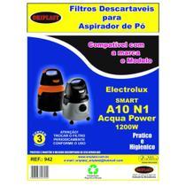 Kit 3 Sacos para Aspirador de Pó A10 N1  Acqua Power 1200w Electrolux Compatível - Greenbelt