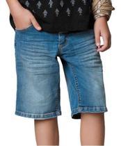 Kit 3 Short Bermuda Masculina Jeans Sarja Infantil Juvenil - Rt13