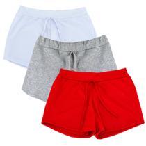 Kit 3 Shorts Canelado Fashion Feminino Summer - Part.B