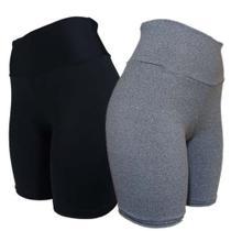 Kit 3 Shorts Meia Coxa Suplex Fitness Feminina Ciclista - G - Jinkingstore