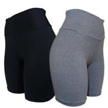 Kit 3 Shorts Meia Coxa Suplex Fitness Feminina Ciclista - M - JinkingStore