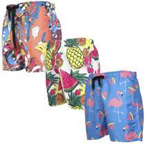 Kit 3 Shorts Tactel Masculino Personagens Mauricinho Verão - Dpontes