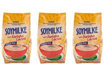 Kit 3 Soymilke Sabor Farinha Láctea Sem Lactose Vegano 210g - Olvebra