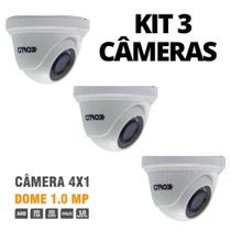 Kit 3 Super Câmera Dome 4x1 1.0MP Citrox PPA - Citrox - Ppa