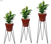Kit 3 suporte de ferro  para vasos de plantas Tripe  de chão - Mestre Moveleiro