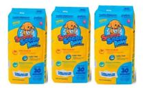 Kit 3 Tapete Higiênico Cães Super Secão Baby Petix Total 90 Unidades -