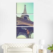 Kit 3 Telas Canvas Paris Tumblr - Prego E Martelo