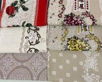 Kit 3 Toalha de mesa 6 lugares retangular tecido linhão 2,20 x 1,45 (kit com 3 estampas variadas) - Tom & Estilo Enxovais
