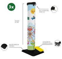 Kit 3 Totem Dispenser Álcool Gel c/ Pedal para Escola Infantil - Artipé