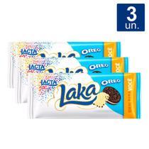 Kit 3 UN Chocolate Lacta Laka Oreo 90g -
