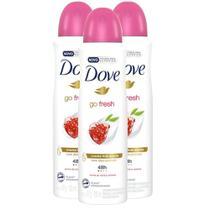Kit 3 UN Desodorante Antitranspirante Aerosol Dove Go Fresh Romã e Verbena 150ml -