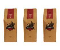 Kit 3 unidades Café Terrazu Gourmet Torrado em Grãos Arábica Máquina Espresso 1Kg - Terrazu Cafés Especiais