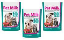 Kit 3 Unidades Suplemento Vitamínico Substituto do Leite Materno para Filhotes Pet Milk 300g - Vetnil -