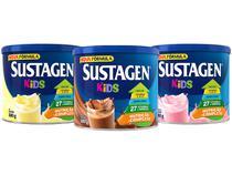 Kit 3 Unidades Sustagen Kids 380g Cada - Baunilha Chocolate e Morango