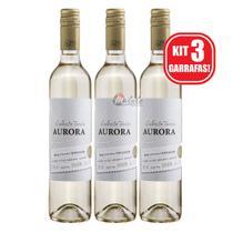 Kit 3 Unidades Vinho Aurora Colheita Tardia 500ml -