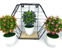 Kit 3 Vasos Planta Decorativo Enfeite Sala Banheiro Cozinha - Imporiente