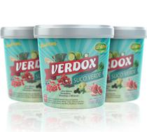 Kit 3 Verdox Instantâneo- (Detox ) Abacaxi c/Hortela 220g - Unilife - Unilife Vitamins